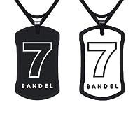 BANDEL(バンデル) ナンバーネックレス(ブラック×ホワイト)No.7 (50cm 縦35mm横21mm) 4580094433725