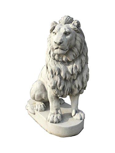 Antikes Wohndesign 1 x XXXL Löwe Löwen Tierfigur Torwächter Türwächter Steinfigur Steinskulptur Garten Links