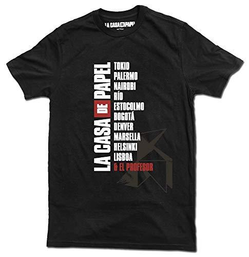 Erik Unisex La casa de Papel t-Shirt, schwarz, XL