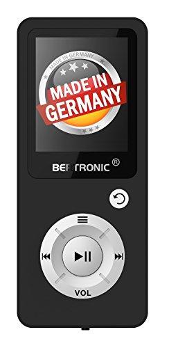 BERTRONIC Made in Germany BC04 Royal MP3-Player, 16 GB Bis 100 Stunden Wiedergabe Radio | Portabler Player mit Lautsprecher | Audio-Player für Sport mit Micro SD-Karte & Silikonhülle
