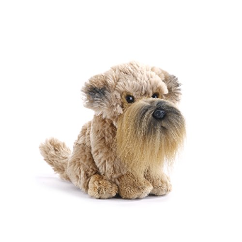 DEMDACO Wheaten Terrier Dog Light Brown Children's Plush Beanbag Stuffed Animal Toy
