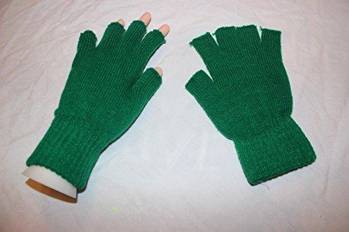 gestrickte Fingerlose Strickhandschuhe Farbe grün HaPeKoPa©