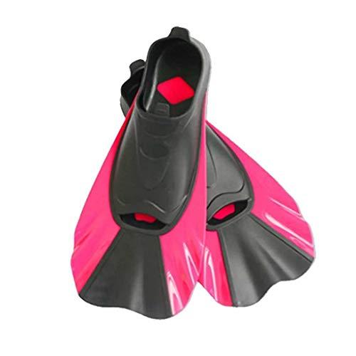 NXYJD POLLQUETE DE PISTO Pantalla DE Nada Corte AUTAS Snorkeling Flippers AUTAS DE BIVO (Color : Red, Size : Small-XS)