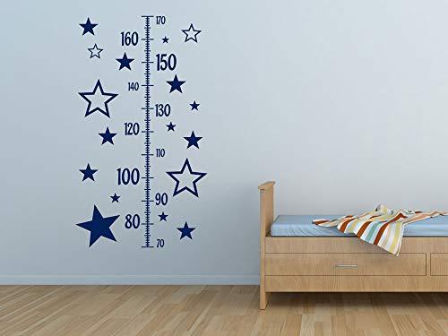 GRAZDesign Wandtattoo Messlatte Sterne, Wandaufkleber zur Geburt, zum kleben an die Wand / 100x57cm / 045 Hellrosa