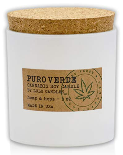 Lulu Candles | Puro Verde - Cannabis Scented Candles | Hemp & Hops | 9 Oz.
