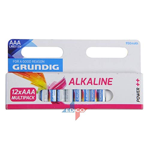 Pile LR3 (AAA) Alcaline 12 pc(s) Grundig Power++ LR03