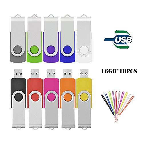 Pollice Pen Drive, Tewene USB2.0dati di archiviazione flash drive memory stick girevole in metallo clip