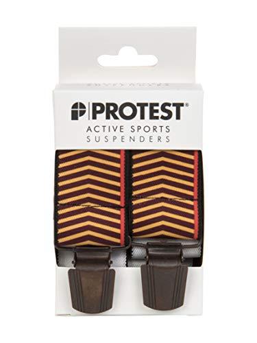 Protest Snowboard Hosenträger orange/weinrot - 1