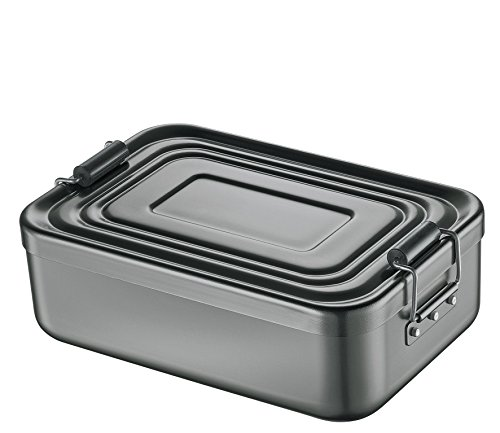 Küchenprofi Lunch Box, Metall, Anthrazit, 23 x 15 x 7 cm