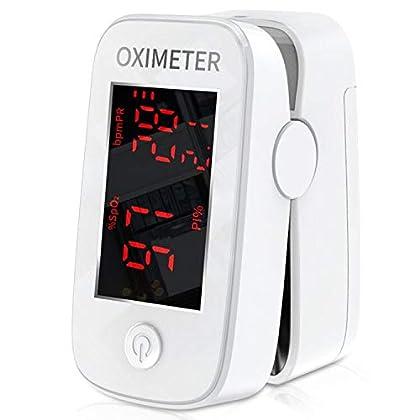 Mommed Pulsímetro Oxímetro de Pulso con Alarma,Lecturas Precisas SpO2,Indice de Perfusión, Oxígeno en Sangre,Frecuencia…