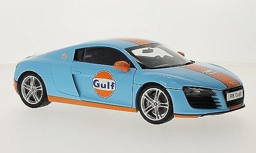Audi R8, hellblau Orange, Gulf, 0, Modellauto, Fertigmodell, Kyosho 1 18