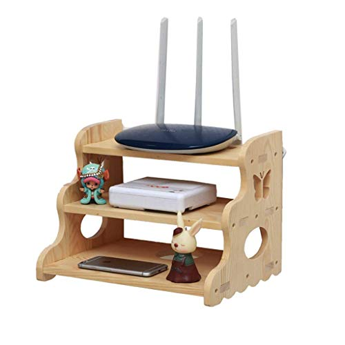 Zhaojyz Household Nood/Wifi Box Router Wifi plank massief houten ponche set Top Box handsfree gemonteerd