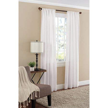 Mainstay Textured Solid Curtain Panel,38x84,White