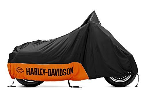 HARLEY-DAVIDSON Motorrad Premium Motorradplane für Innen Schwarz Orange 93100019