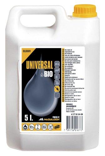 Universal GM577616409 Aceite de cadena biologico, protección contra el desgaste, alto efecto lubricante, uso durante todo el año, biodegradable, Standard, 5 L