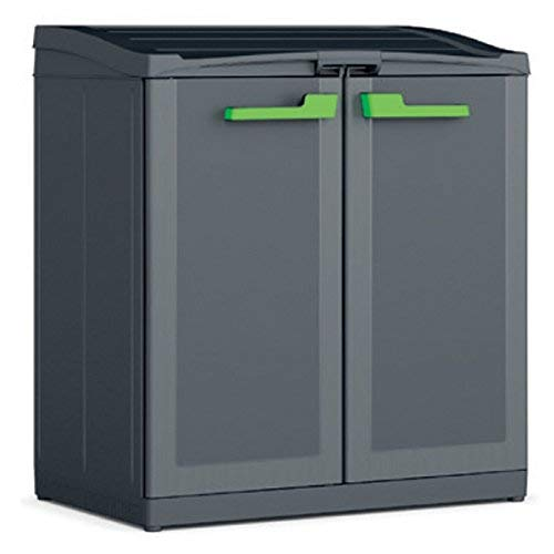 KETER Compact Store Cubo, Gris/Antracita, 90 x 55 x 100 cm