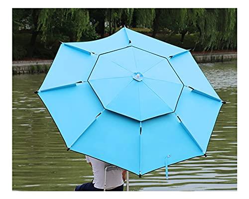 F-XW Sombrilla Parasol Exterior, Sombrilla Playa Proteccion UV Multifuncional, Adecuada para Pesca, Playa, Piscina, terraza, Parque, con 8 Varillas (Size : 220cm/86.5in)