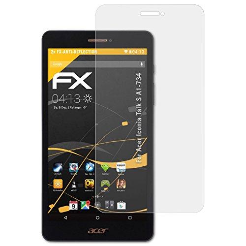 atFolix Panzerfolie kompatibel mit Acer Iconia Talk S A1-734 Schutzfolie, entspiegelnde & stoßdämpfende FX Folie (2X)
