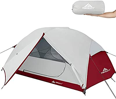 Forceatt Backpacking Tent 2 Person, Professional Waterproof & Windproof & Pest Proof 2 Doors Lightweight Camping Tent, 3-4 Seasons, Easy Set Up, Great for Camping, Hiking & Outdoor.