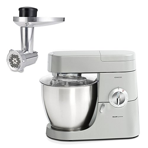 Kenwood kmm770gl + AT950 chef premier Machina de cuisine et hachoir, Silver