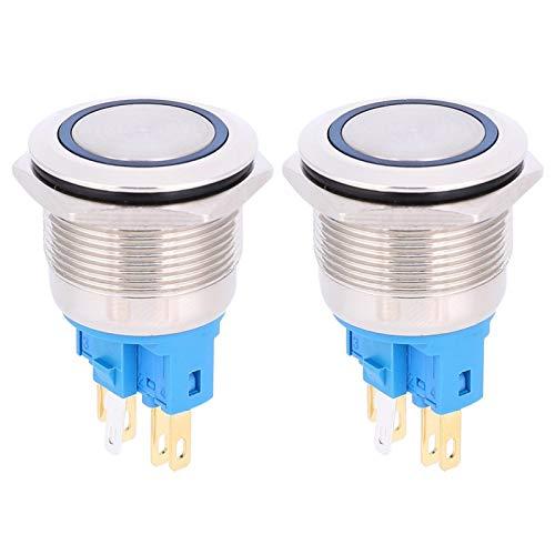 Botón de 6 pines resistente al óxido, pulsador, para oficinas de fábrica de la industria doméstica(blue, Pisa Leaning Tower Type)