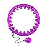 Lidylinashop Hula-Hoop Fitness Hula-Hoop Ponderado Hula-Hula Hoop Fitness Hula-Aros con Peso Hula-Hoop para Adultos Ejercicio Hula-Hoop Adulto Purple,One Size