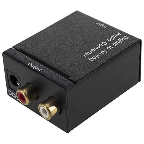 BeMatik - Conversor de audio digital a analógico toslink coaxial RCA