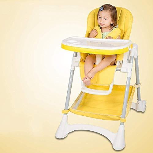 GZQDX Hochstuhl - Schiefer - Hochstuhl, Kleinkinderstuhl und Booster (Color : Yellow)