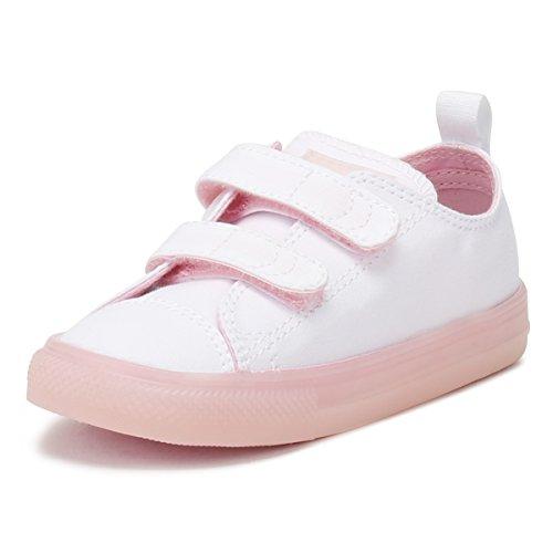 Converse Unisex Baby Ctas 2V OX White/Cherry Blossom Krabbelschuhe, Weiß (White/Cherry Blossom 100), 26 EU