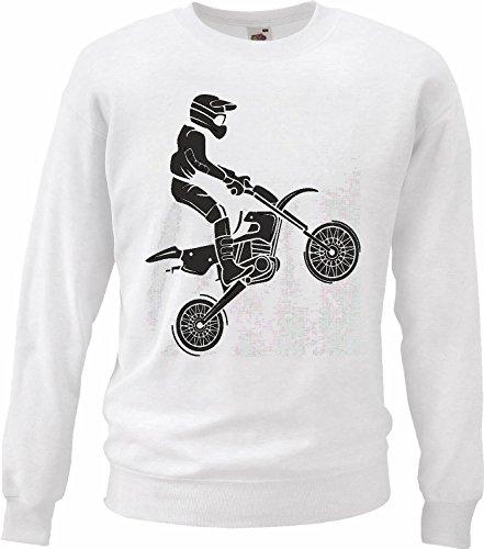 Pullover voor Motocross, Silueta? 125 cc Motocross Freestyle Motocross motorkleding in wit