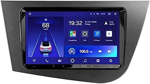 Estéreo para automóvil Android 10.0 Compatible con radio Seat Leon 2 2005-2012 Navegación GPS Unidad principal de 9 pulgadas Pantalla táctil Reproductor multimedia MP5 Receptor de video con 4G WiFi V