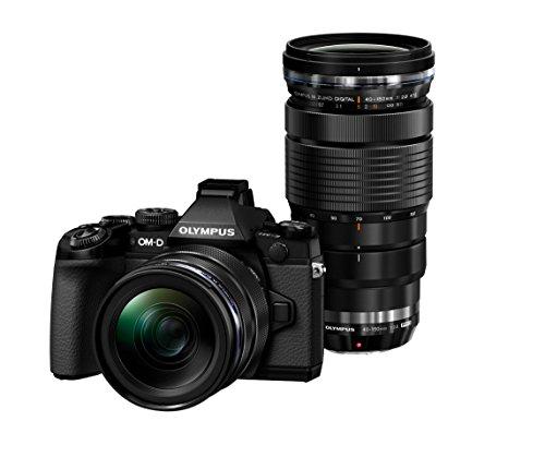 Olympus OM-D E-M1 Systemkamera (16 Megapixel, 7,6 cm (3 Zoll) TFT LCD-Display, Full HD, HDR) Kit inkl. M.Zuiko Digital ED 12-40 mm und 40-150 mm f2,8 Top Pro Objektiv schwarz