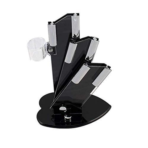ZJDK Portaherramientas (sin Cuchillo), Portacuchillos de acrílico de Cocina Moderno Soporte de Almacenamiento Portacuchillos de cerámica de 3,4,5 Pulgadas Portacuchillos Tridimensional