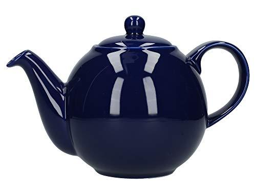 London Pottery 80190 Teekanne mit Sieb, Keramik, Kobaltblau, 8 Tassen (1,8 Liter)