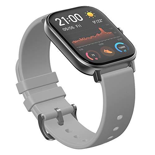【国内唯一の正規品】 Amazfit GTS スマートウォッチ 活動量計 心拍計 歩数計 歩数計 LINE/SMSなど日本語メッセージ表示 着信通知 高精細AMOLEDディスプレイ 「GPS&GLONASS内蔵」 5ATM 防水 日本語アプリ 最長14日間
