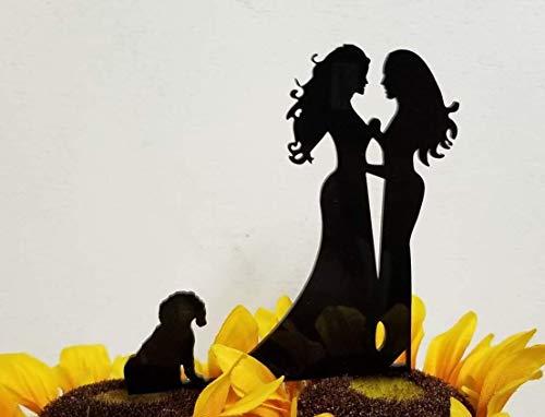 Lesbian Cake Topper for Dog Lovers