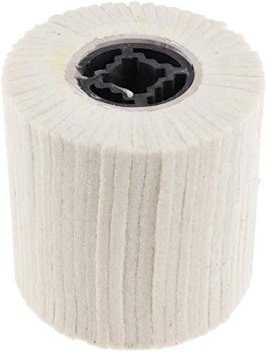 Wool Felt Wire Drawing Wheel Buffer Wheel Buffing Drum Mirror Burnishing Polishing Brush for Rust/Dust Removal,Jewelry/Glass (100X100MM)
