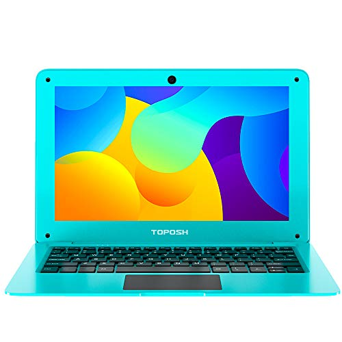 TOPOSH 10.1Inch Laptop Windows 10 PC Notebook Computer 2GB RAM+32GB SSD Intel Atom X5-Z8350 Quad-Core Graphics 1.44 GHz with US Keyboard WiFi Bluetooth