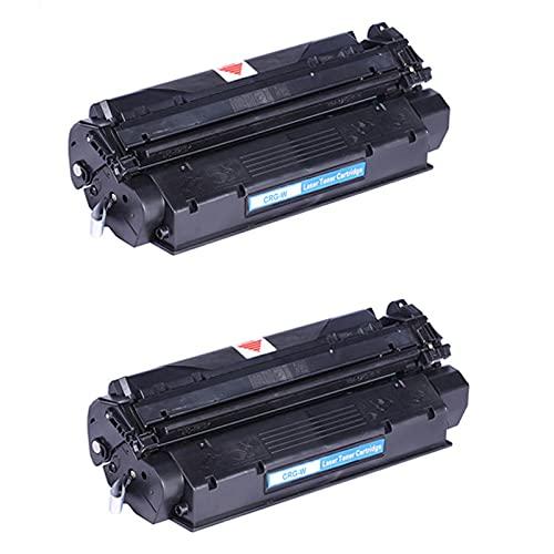 Compatible para Canon CRG-W Cartuchos de tóner Reemplazo para Canon LBP1210 FAX-L360 380 390S 398S 400 ImageClass D320 323 340 383 398 Impresora, Equipo de copiadora Black 2pcs