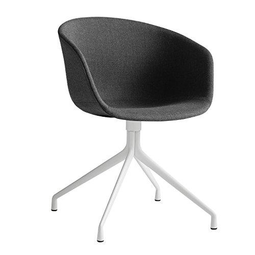 HAY Over een stoel 21 Draaibare fauteuil gestoffeerde as/stof Remix 183/frame wit poeder gecoat/met plastic zweefvliegers