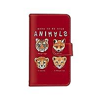[bodenbaum] Galaxy S9 SC-02K / SCV38 手帳型 スマホケース カード スマホ ケース カバー ケータイ 携帯 SAMSUNG サムスン ギャラクシー エスナイン docomo au 動物 虎 ライオン 狐 チーター k-005 (C.レッド)
