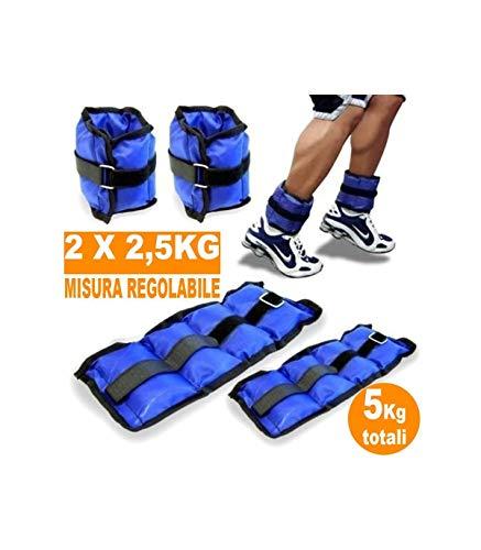 Trade Shop - Pesi Caviglie Polsi CAVIGLIERA Sport Arti Marziali Fitness CAVIGLIERE Peso 5 kg - 04560