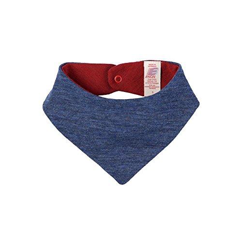 Engel Baby Halstuch reine Bio-Wolle, Blau Melange, One Size