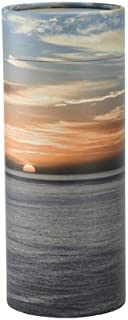 Ocean Sunset Scattering Tube, Biodegradable Urn for Spreading Ashes, Eco Urn, Adult Sized, 12.5 Inches Long