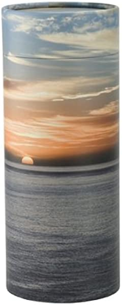 Ocean Sunset Scattering Tube Biodegradable Urn For Spreading Ashes Eco Urn Adult Sized 12 5 Inches Long