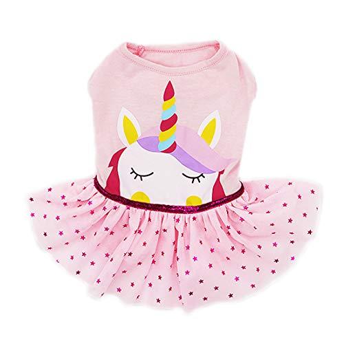 kyeese Dog Unicorn Dresses Girl Dog Dress Party Birthday Pet Apparel