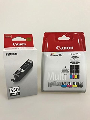 Original Druckerpatronen für Canon PIXMA iP7250/ 8750, iX6850, MG 5450/ 5550/ 5650/ 6350/ 6450/ 6650/ 7150/ 7550, MX725/ 925 (black + (4er))