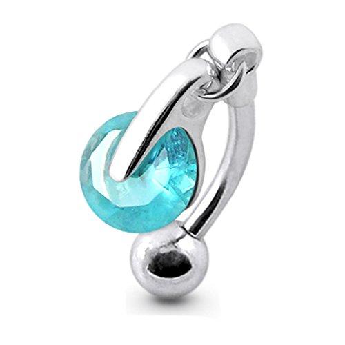 Blue Crystal Stein Trendy Runde...