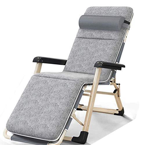 LOVEHOUGE Sillón reclinable plegable para exteriores, tumbonas de gravedad cero para patio, terraza, jardín, camping, 150 kg