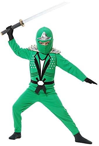 Charades Ninja Avenger Series II with Armor Child's Costume, X-Large Jade